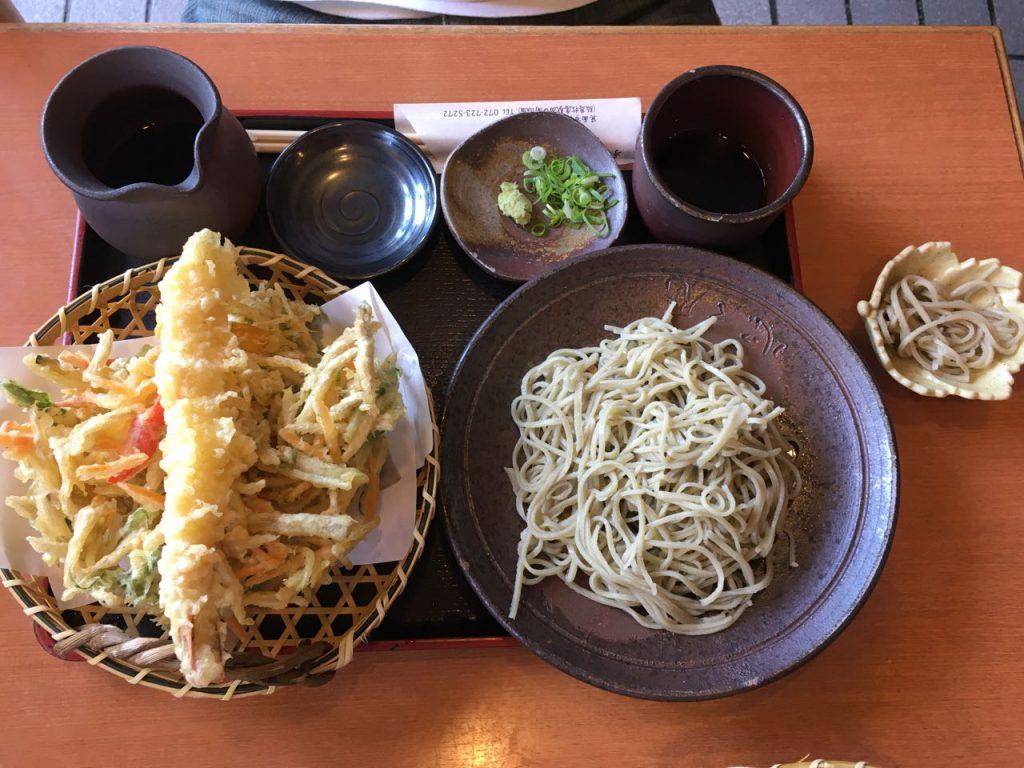 かき揚げ天ざる(十割蕎麦)